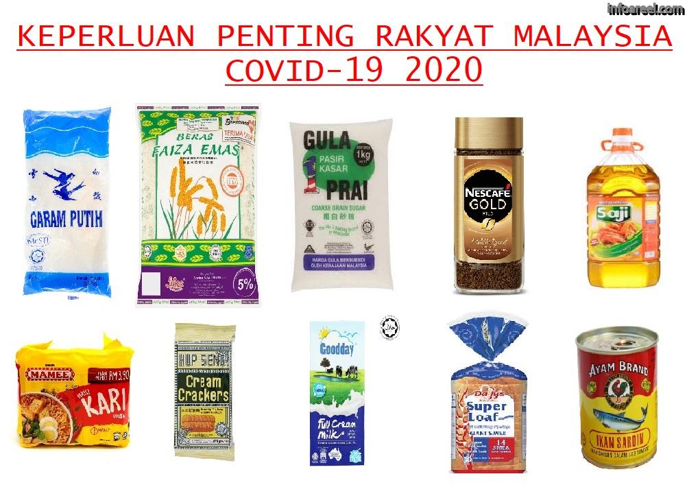 Barangan Keperluan Rakyat Malaysia Ketika Wabak Covid-19