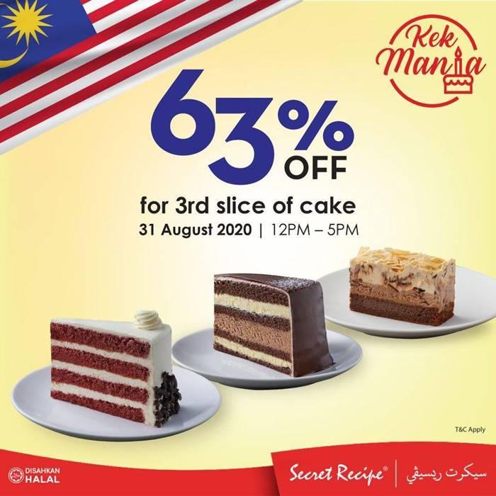 Secret Recipe Kek Mania 63% Diskaun Tawaran Hebat Merdeka
